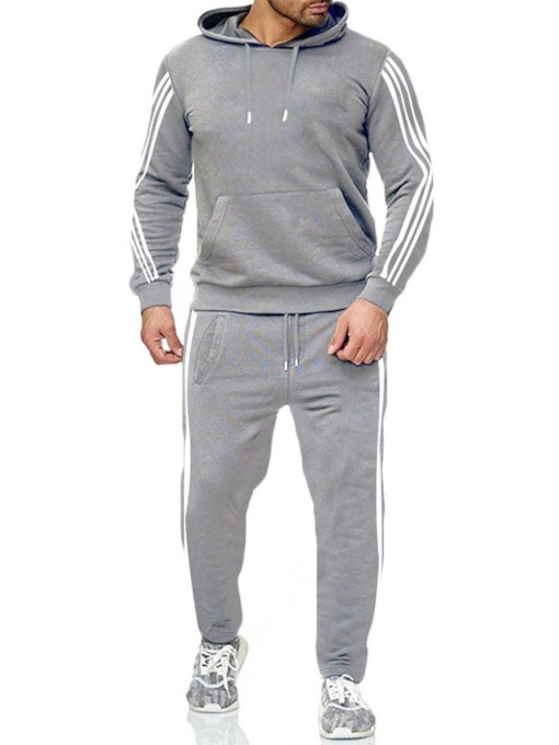 Hoodie Casual Color Block Pocket Spring Men's Outfit