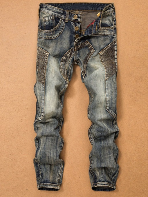 European Worn Straight European Men's Jeans