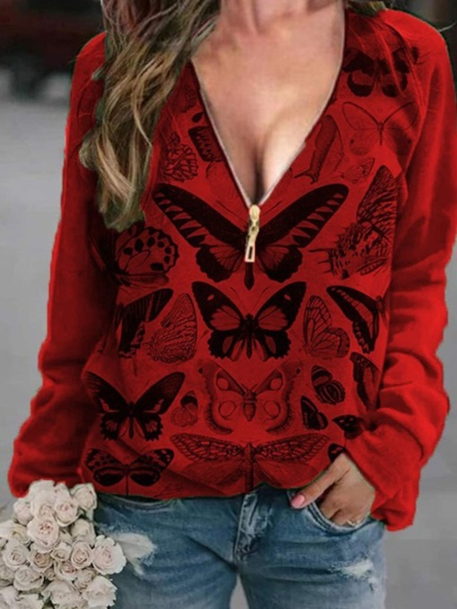 Animal Regular Print Standard Women's Hoodie Sweatshirt
