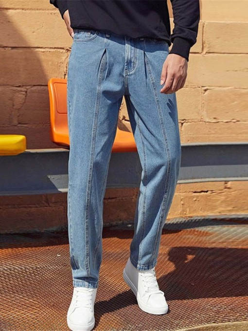 Plain Casual Men's Jeans