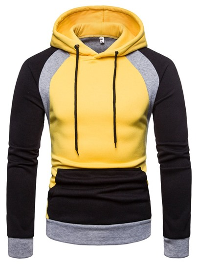 Color Block Patchwork Pullover Pullover Mens Hoodies Color Block Patchwork Pullover Pullover Mens Hoodies