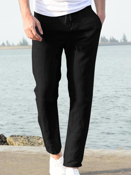 Thin Plain Straight Fall Men's Casual Pants