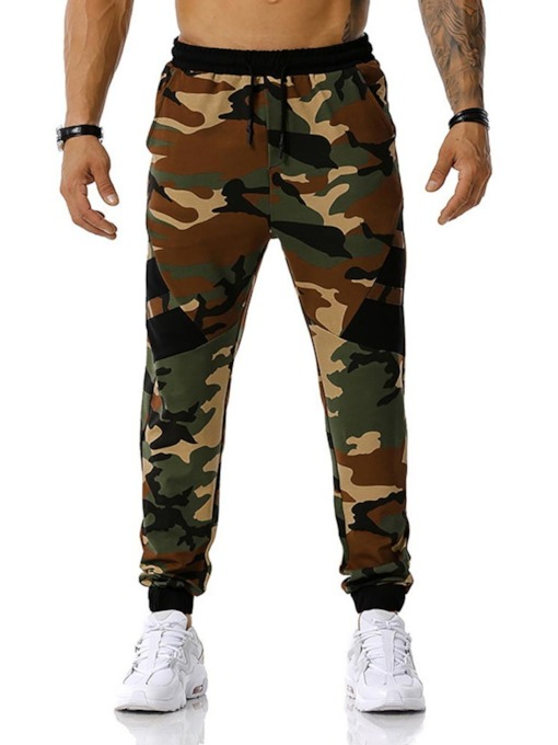 Pencil Pants Print Camouflage Casual Men's Casual Pants