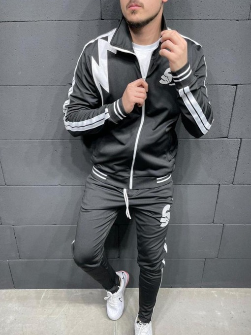 Jacket Sports Letter Print Fall Men's Outfit