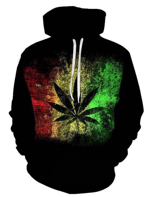 Thick Plant Pullover Print Spring Men's Hoodies