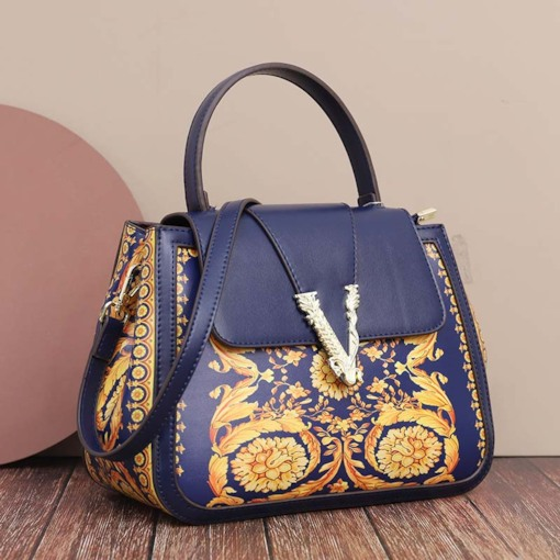 Casual PU Print Floral Rectangle Tote Bags