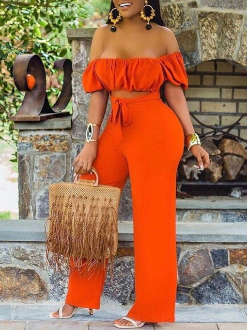 Hollow Plain Full Length Sexy Straight Women's Jumpsuit