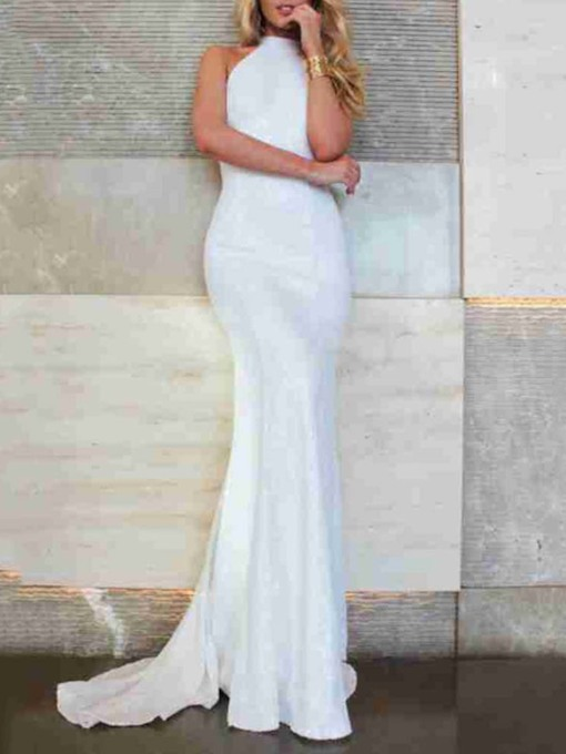 Sleeveless Floor-Length Backless Mermaid Women's Dress