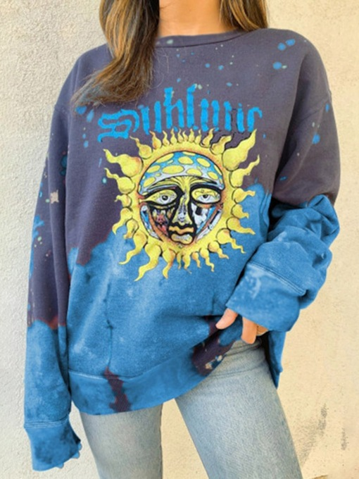 Regular Print Floral Fall Women's Sweatshirt