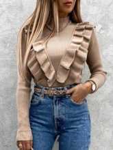 Patchwork Loose Pullover Women's Sweater