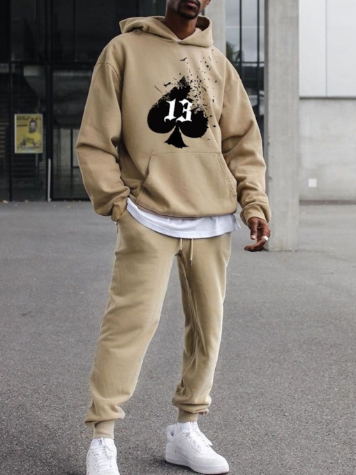 Casual Pocket Hoodie Fall Men's Outfit