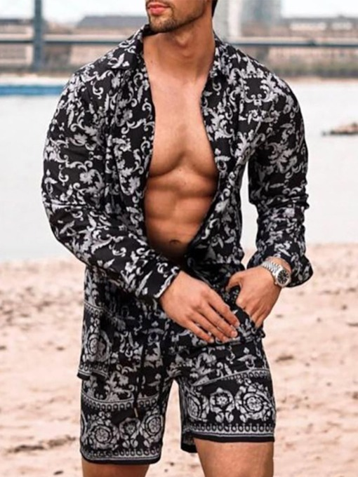 Print Shirt Floral Casual Summer Men's Outfit