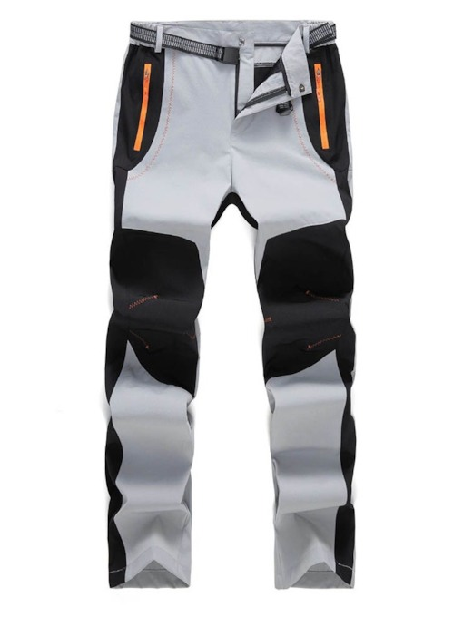 Casual Color Block Patchwork Straight Men's Casual Pants