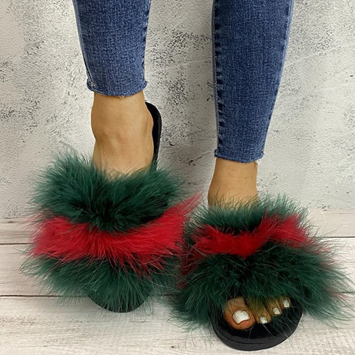 Flat With Slip-On Flip Flop Fall Slippers