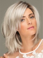 Layered Shag Hairstyle Shoulder Length Synthetic Capless Women Wigs 120% 16 Inches Wigs