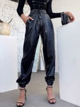 Loose Pleated Serpentine Pencil Pants Women's Casual Pants