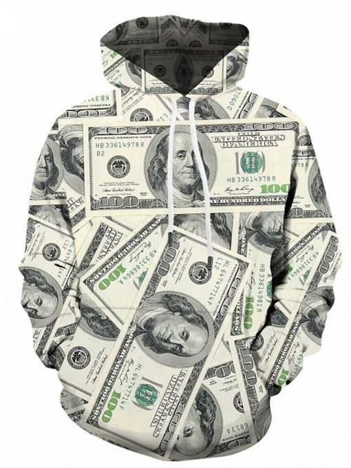 Loose Print Pullover Pullover Men's Hoodies