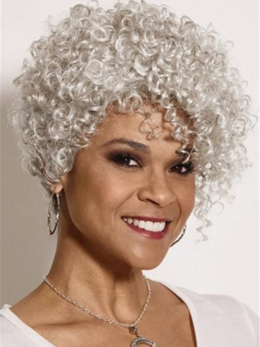 Trendy Pixie Synthetic Hair Wig With Lush Layers of Spiral Curls 10 Inches 120% Wigs