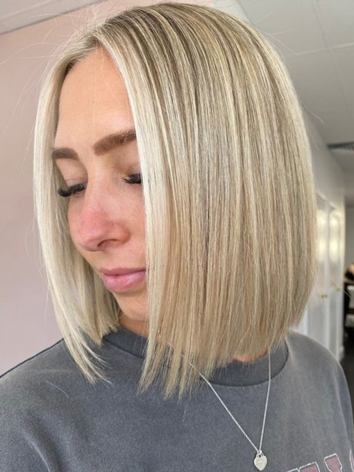 Women's Short Bob Hairstyles Straight Synthetic Hair Capless10 Inches 120% Wigs