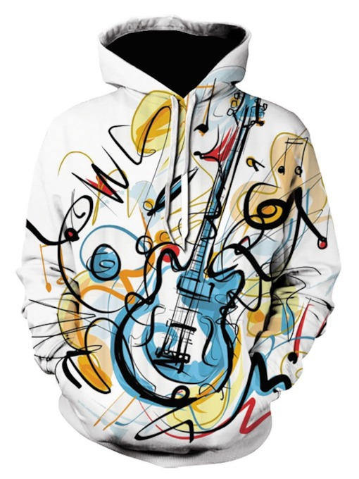 Fashion Print Pullover Hooded Loose Men's Hoodies