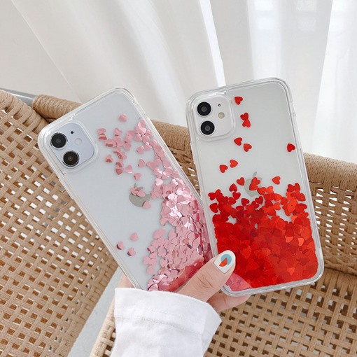 Sequins Decorated TPU Back Cover Apple Mobile Phone Covers