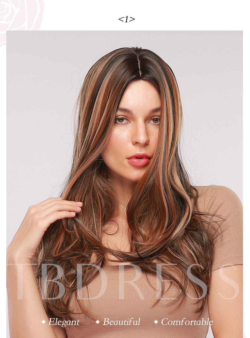 Women Synthetic Hair 26 Inches 130% Wigs