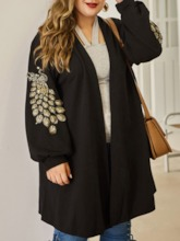 Thin Embroidery Loose Women's Sweater