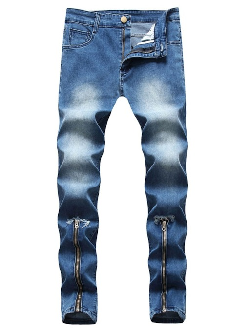 Pencil Pants Zipper European Men's Jeans
