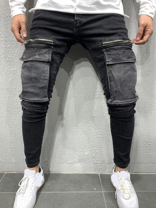 Pocket Pencil Pants Casual Men's Jeans