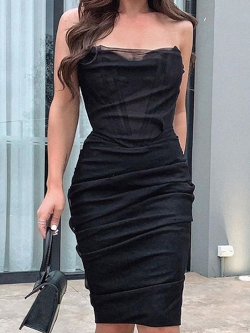 Sleeveless Above Knee Fashion Women's Dress