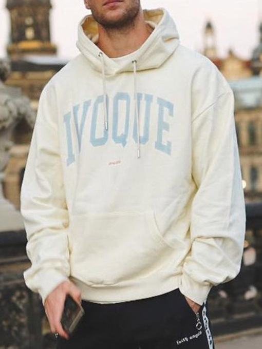 Letter Pullover Loose Men's Hoodies