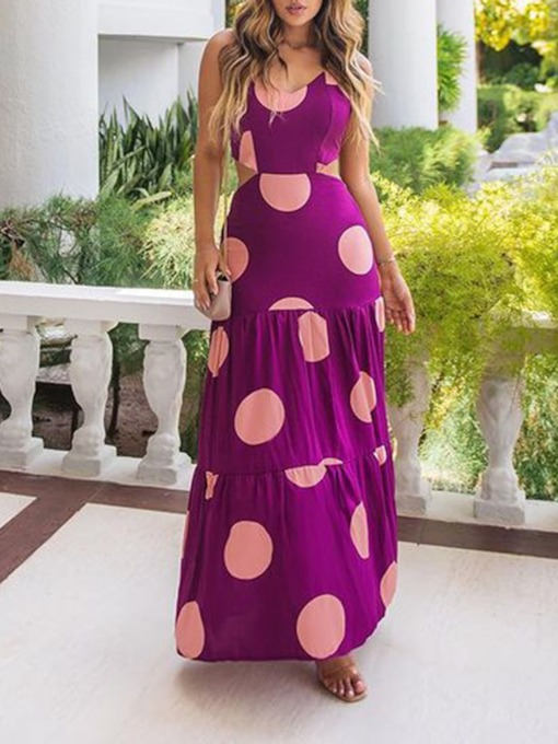 Fashion Floor-Length Sleeveless Print Pullover Women's Dress