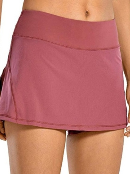 Patchwork Plain Slim Women's Shorts