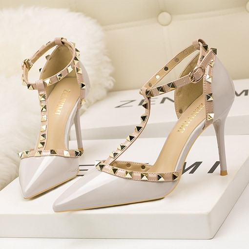 Stiletto Heel Buckle Heel Covering Pointed Toe Western Sandals