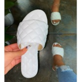 Slip-On Thread Toe Ring Flat With Casual Slippers