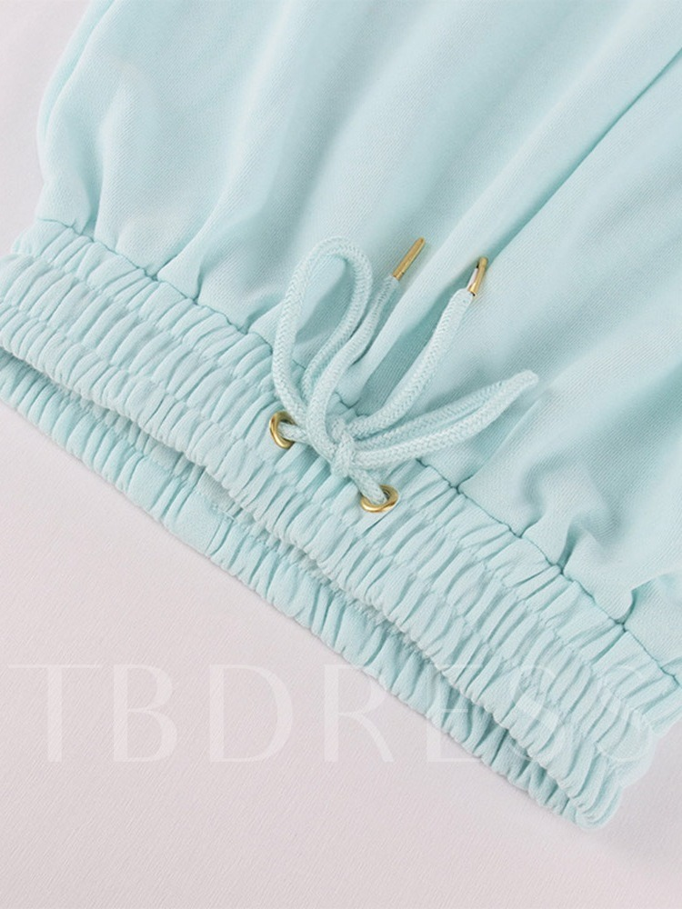 Patchwork Solid Pullover Full Length Running Clothing Sets
