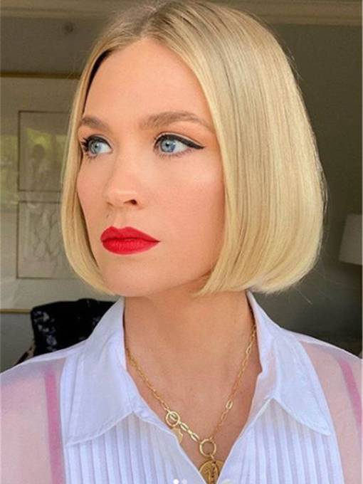 Medium Bob Women's Middle Part Natraight Straight Synthtic Hair Capless 120% 12 Inches Wigs