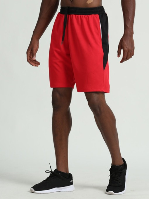 Anti-Sweat Color Block Polyester Shorts Male Spring Pants