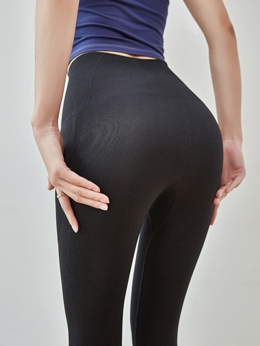Nylon Breathable Ankle Length High Waisted Yoga Sports Pants Tiktok Leggings