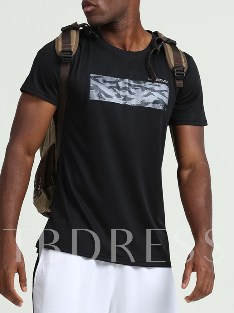 Breathable Polyester Print Short Sleeve Pullover Traveling Tops
