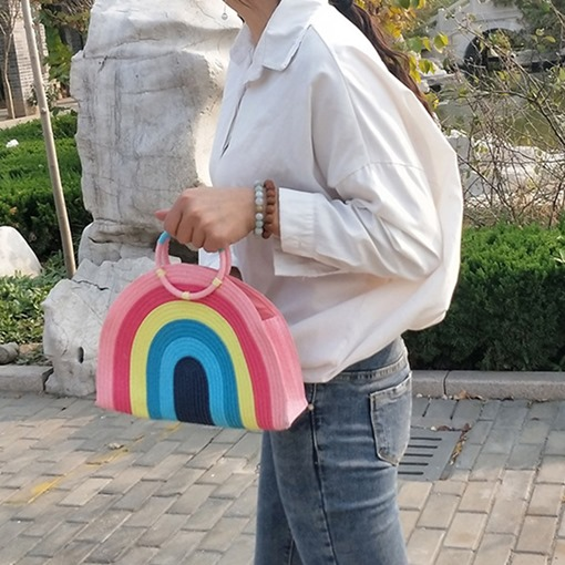 Sweet Knitted Circular Tote Bags