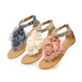 Buckle Flat With Thong Casual Sandals