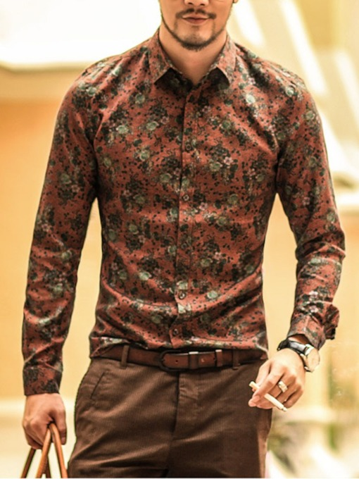 chemise homme automne floral angleterre à revers