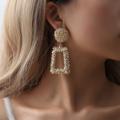 Geometric E-Plating Alloy Party Earrings
