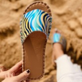 Fashion Flip Flop Slip-On Flat With Casual Slippers