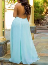 Plus Size Plain Full Length Backless Sexy Loose Women's Jumpsuit