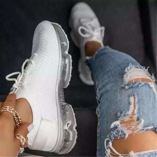 Lace-Up Cross Strap Round Toe Low-Cut Upper Flat With Sneakers