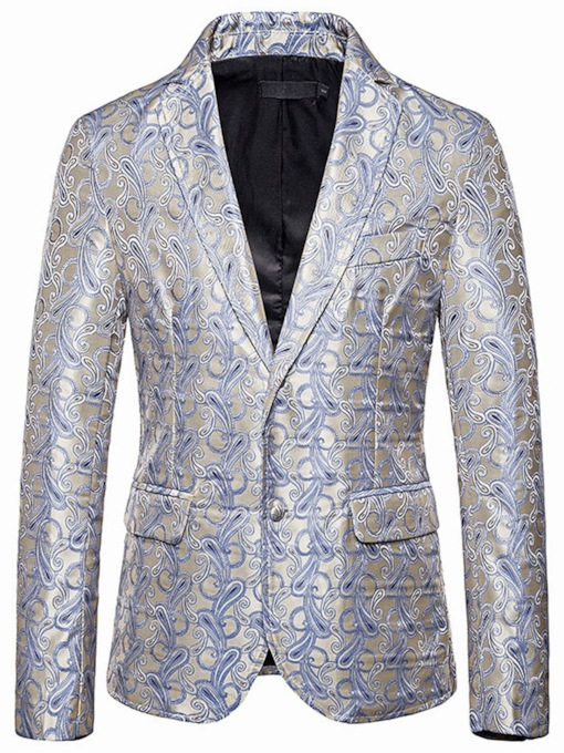 Print Single-Breasted Slim Casual Men's Leisure Blazer