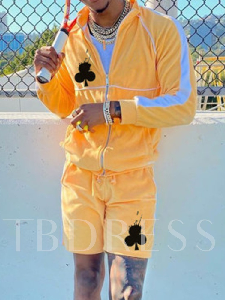 Patchwork Color Block Pants Sports Fall Men's Outfit
