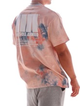 t-shirt homme col rond camouflage sport tie-dye ample